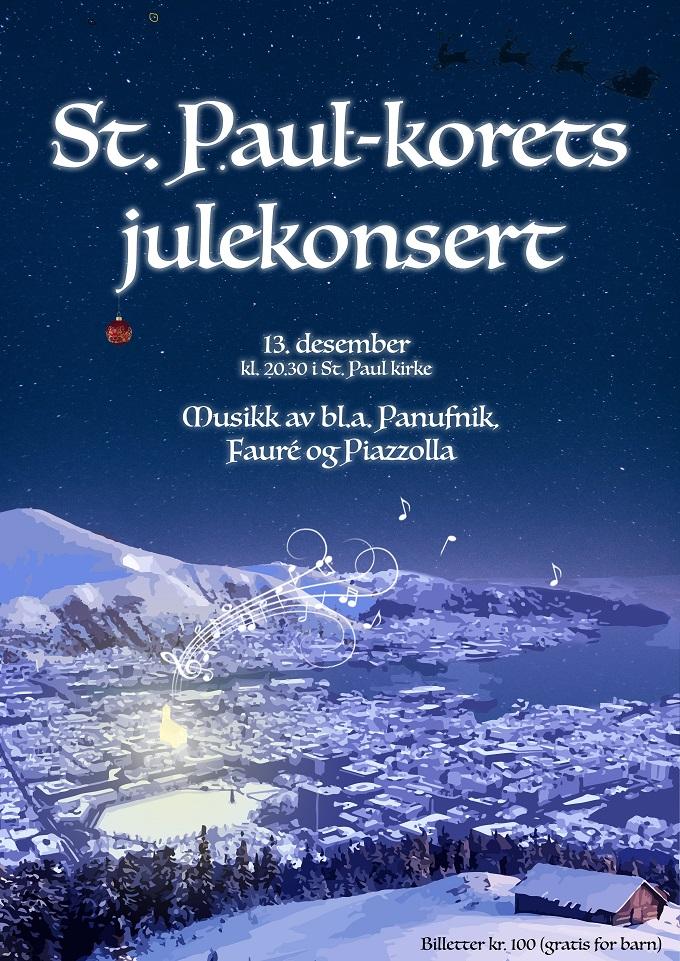St.Paul Julekonsert Plakat2