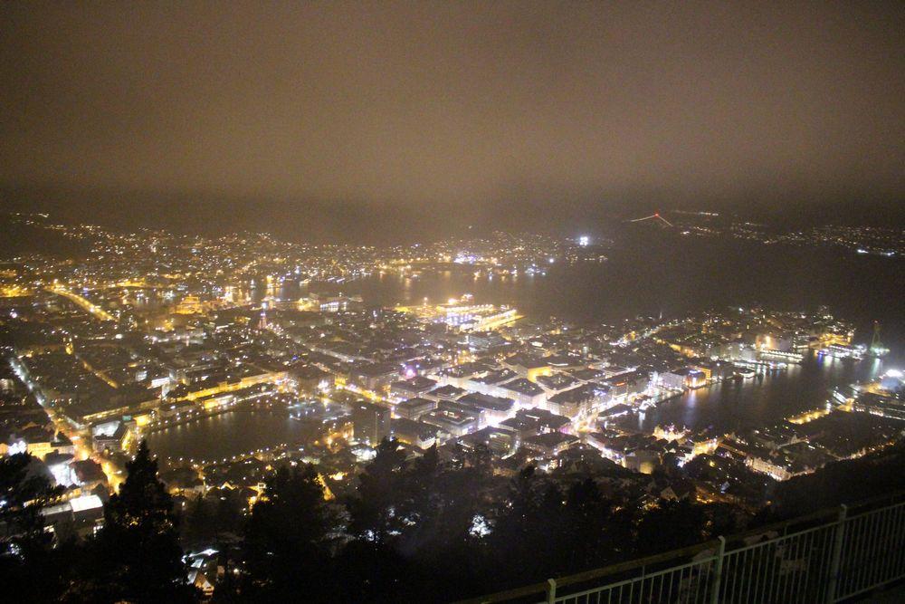 Utsikt fra Fløyen